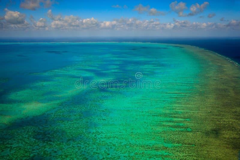 Arlington Reef at Great Barrier Reef Marine Park. Aerial view of Arlington Reef in the Great Barrier Reef Marine Park Australia royalty free stock photos
