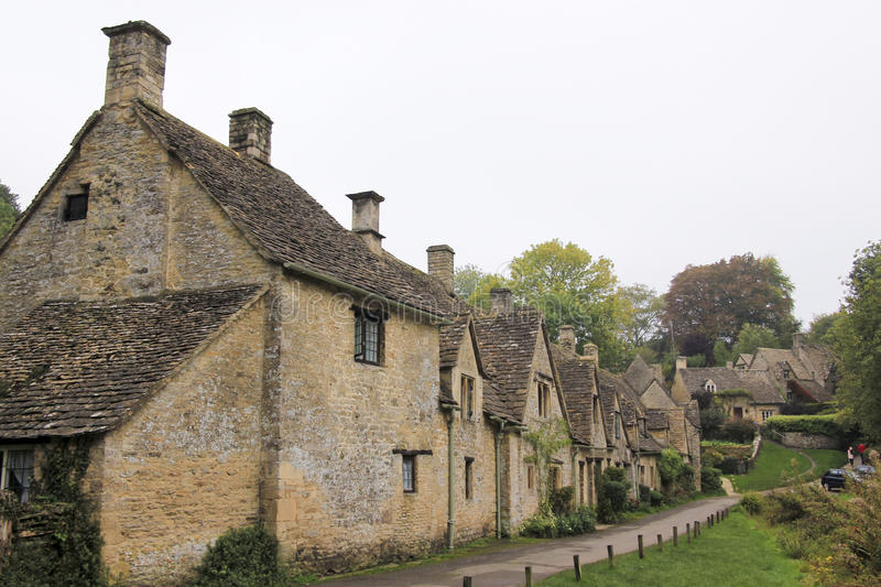 Arlington Row Cottages Bilbury Cotswalds Village UK royalty free stock photos