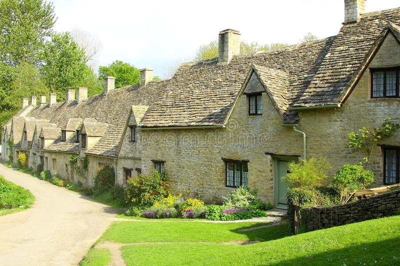 Download Arlington Row Cottages, Bibury, Cotswolds, England Royalty Free Stock Photography - Image: 15007037