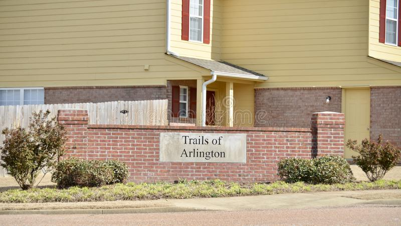 Arlington Tennessee Community Sign stock afbeeldingen