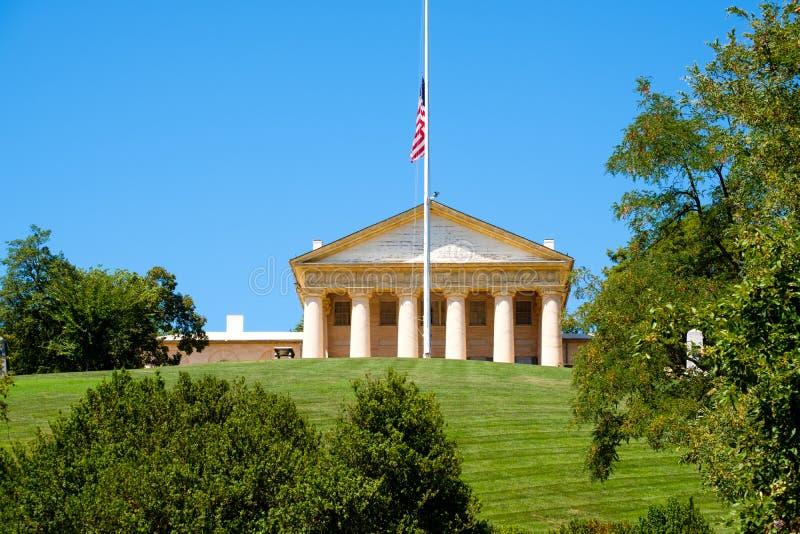 Arlingtonhuis bij de Nationale Begraafplaats van Arlington in Virginia, stock fotografie