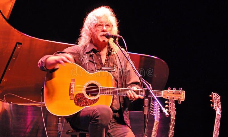 Arlo Guthrie, executor de Woodstock imagens de stock