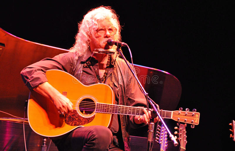 Arlo Guthrie, Singer, Songwriter and Storyteller. Arlo Guthrie, a musical treasure and American Icon, not to mention a legend of Woodstock is 66 years old but royalty free stock photos