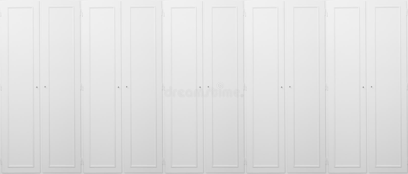 Armário branco, de madeira, fechado, para o fundo Feche acima da vista com detalhes fotografia de stock
