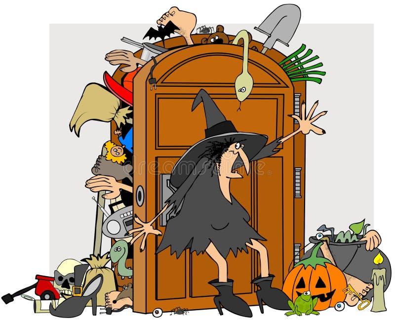 Armário das bruxas ilustração stock