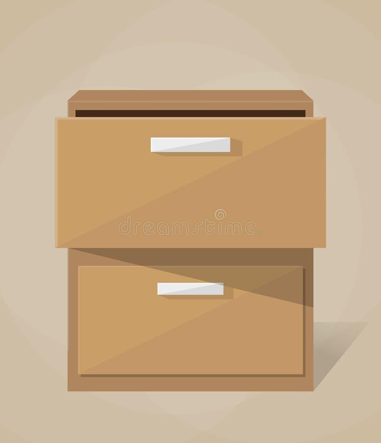 Armário de enchimento do arquivo do vetor ilustração stock