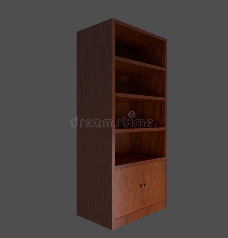 Armário de madeira gerado por computador imagem de stock royalty free