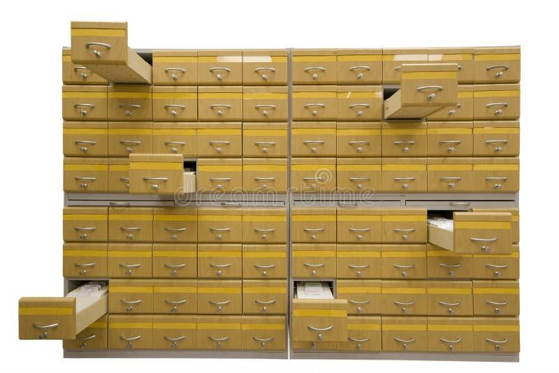 Armário do arquivo fotos de stock royalty free