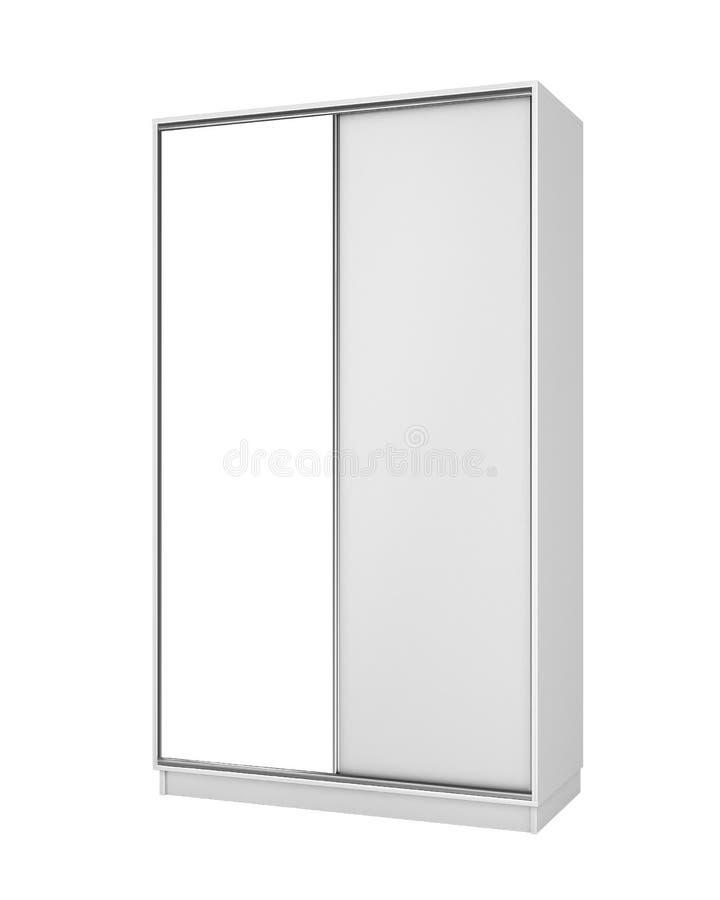 Armário incluido branco com um grande espelho ilustração do vetor