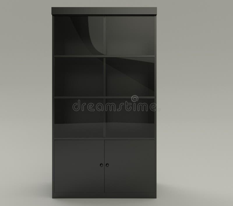 Armário preto gerado por computador imagem de stock