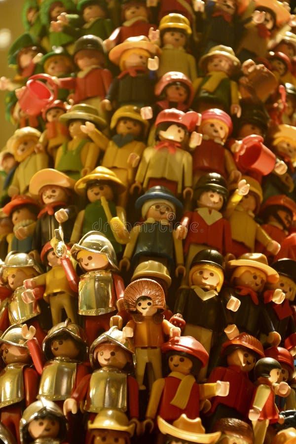 Armé av leksaksoldater royaltyfria bilder