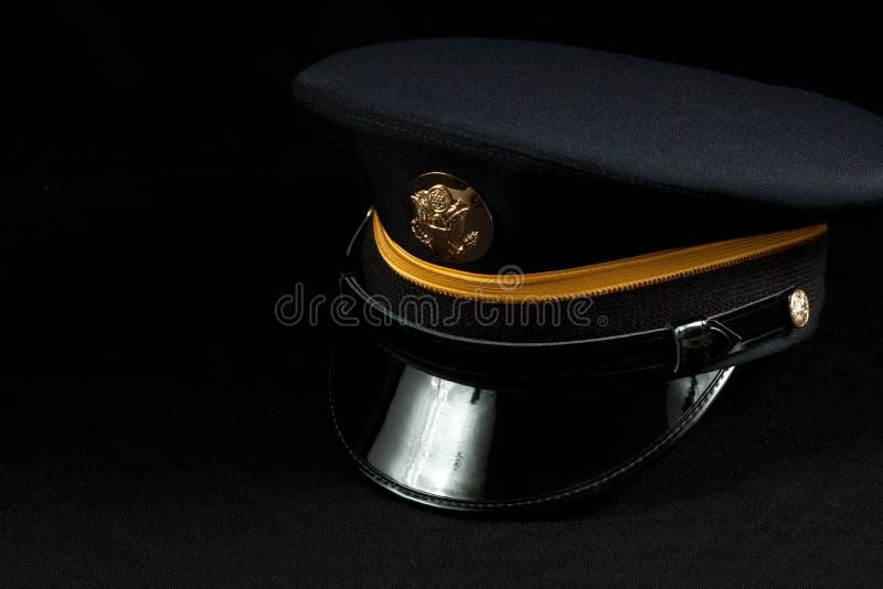 armé enlisted hattmilitär arkivbild