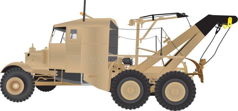 Armé Tow Truck vektor illustrationer