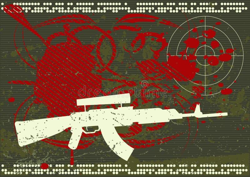 armébakgrundsgrunge royaltyfri illustrationer
