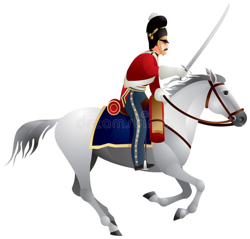 armébritish kavalleri vektor illustrationer