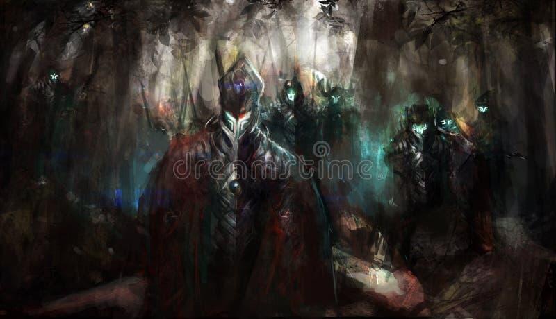 armécybernetik royaltyfri illustrationer