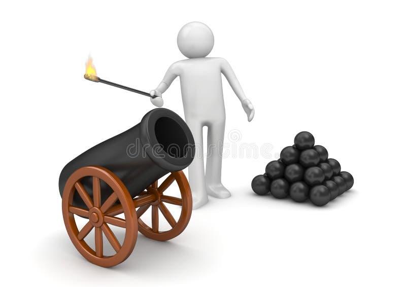 Armée - canonnier illustration libre de droits