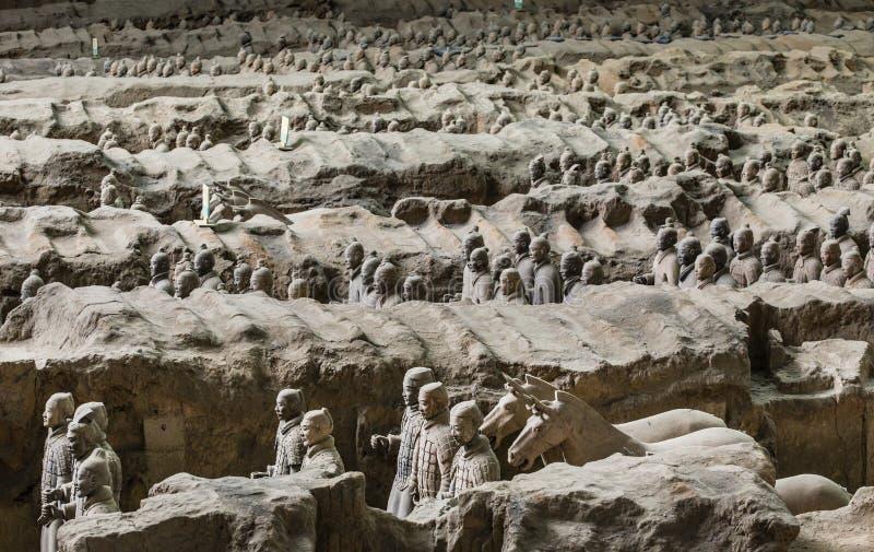 Armée de Terracota du premier empereur de la Chine photo libre de droits