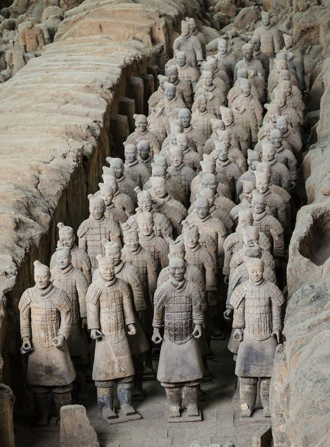 Armée de Terracota du premier empereur de la Chine photographie stock