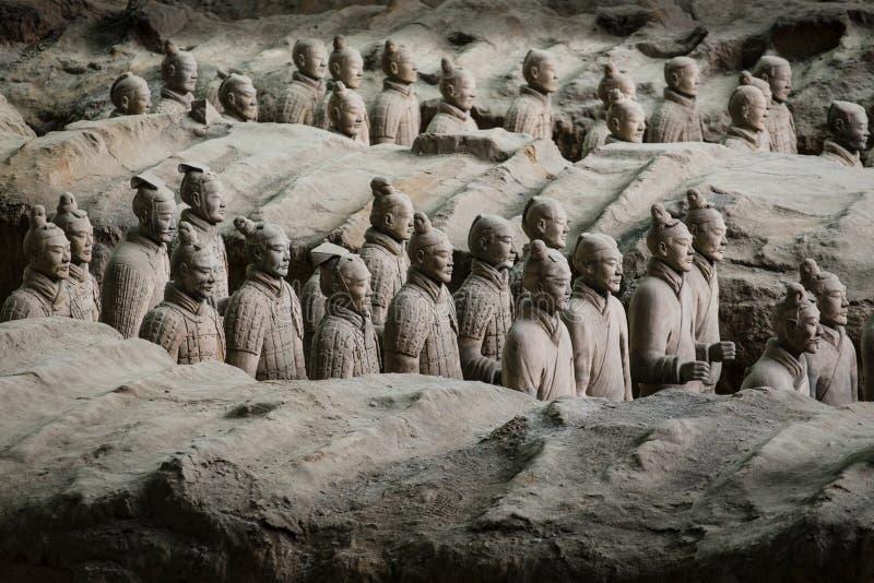 Armée de Terracota du premier empereur de la Chine photographie stock libre de droits