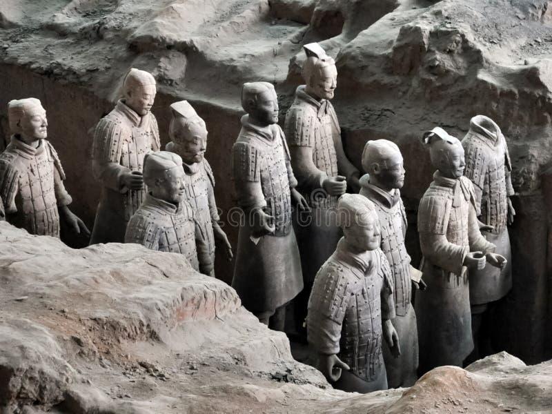Armée de terre cuite Soldats d'argile de l'empereur chinois photographie stock libre de droits