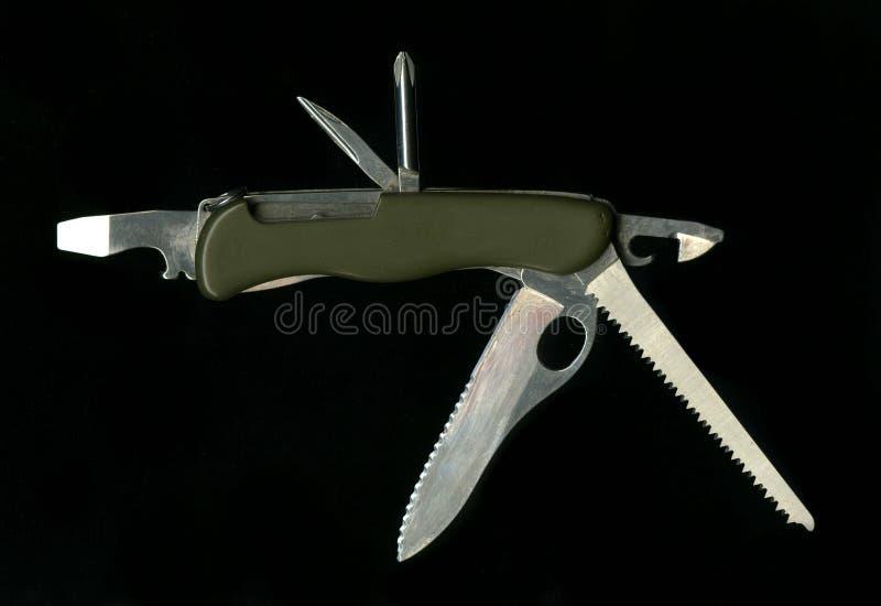 Armée multifonctionnelle de soldat de couteau de poche photo stock