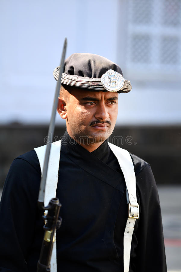 Armée royale népalaise du roi images stock