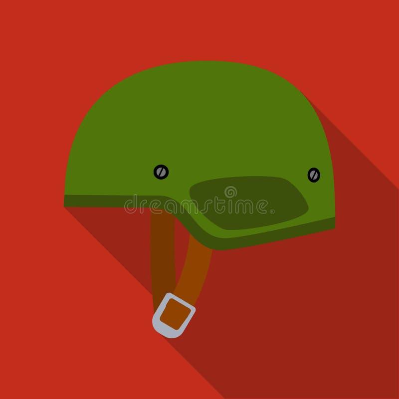 Arméhjälmsymbol i plan stil som isoleras på vit bakgrund Militär- och för vektor för armésymbolmateriel illustration stock illustrationer