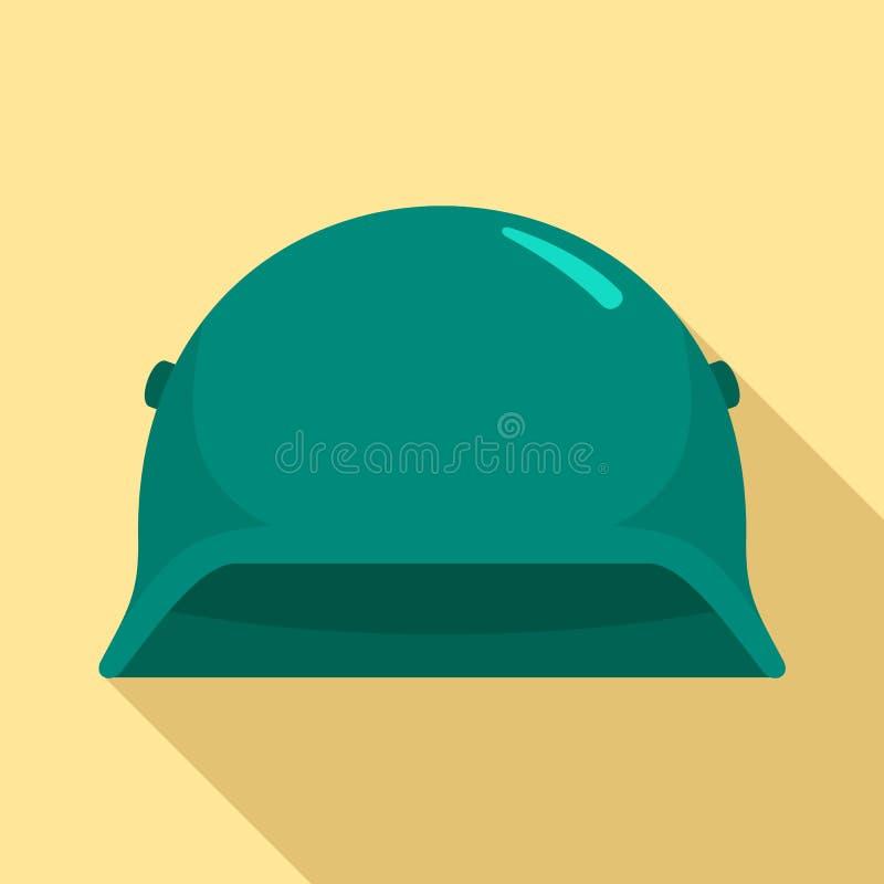 Arméhjälmsymbol, plan stil stock illustrationer