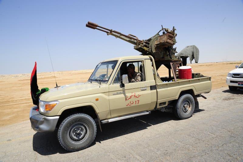 armén frigör libyerer royaltyfria foton