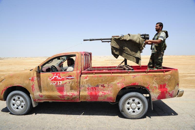 armén frigör libyerer arkivfoto