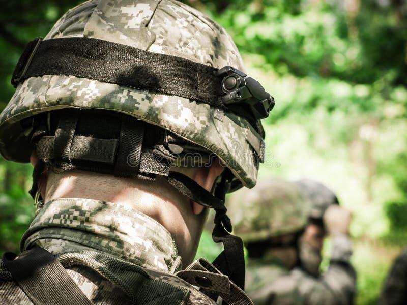 armén tjäna som soldat oss royaltyfria foton