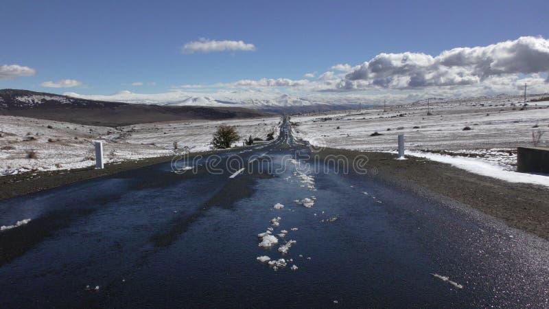 arménia Roadscape da província de Aragatsotn imagem de stock
