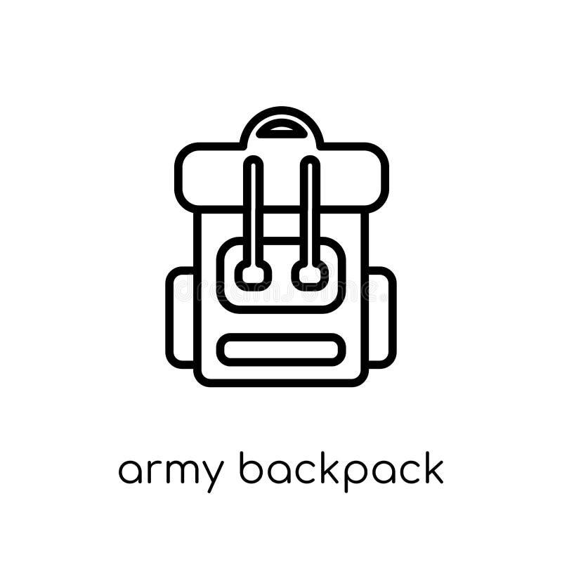 Arméryggsäcksymbol från armésamling royaltyfri illustrationer
