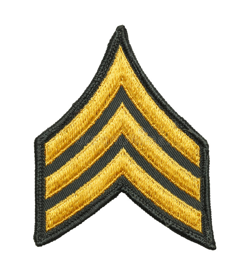 Armésergeant Patch royaltyfri bild