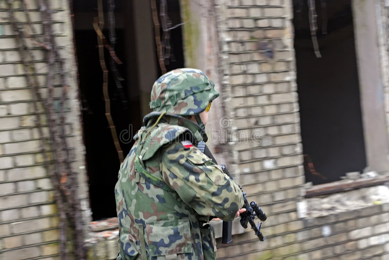 Armésoldat arkivfoto
