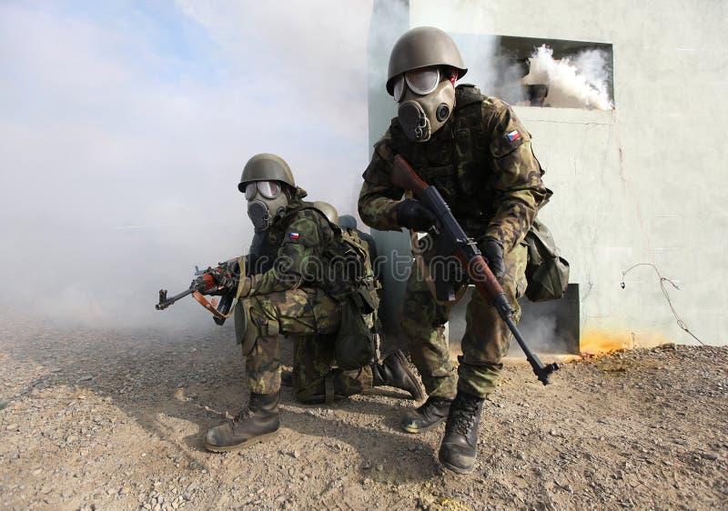 arméutbildning royaltyfri foto