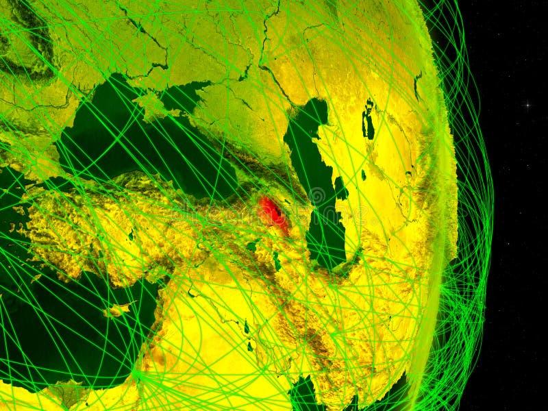 Armênia na terra digital ilustração royalty free