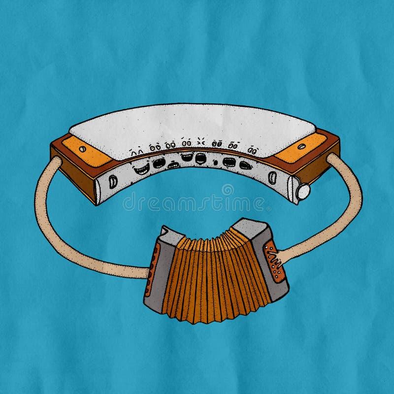 Armónica con la armónica fotografía de archivo libre de regalías
