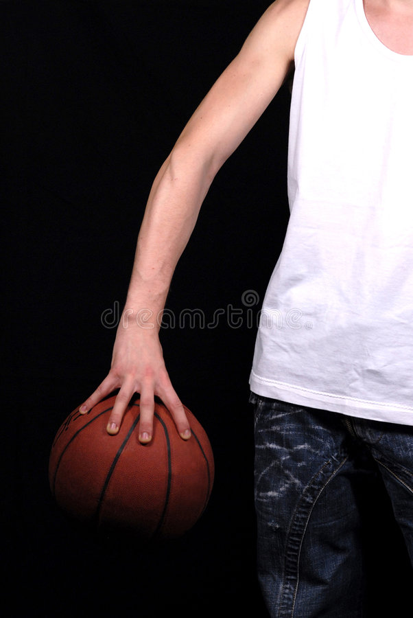 Download Arm and basketball stock photo. Image of jeans, orange - 5353280