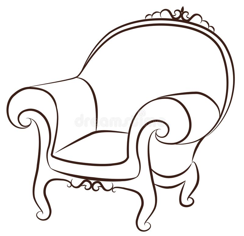Download Arm-chair For Vintage Interior Stock Vector - Image: 21091337