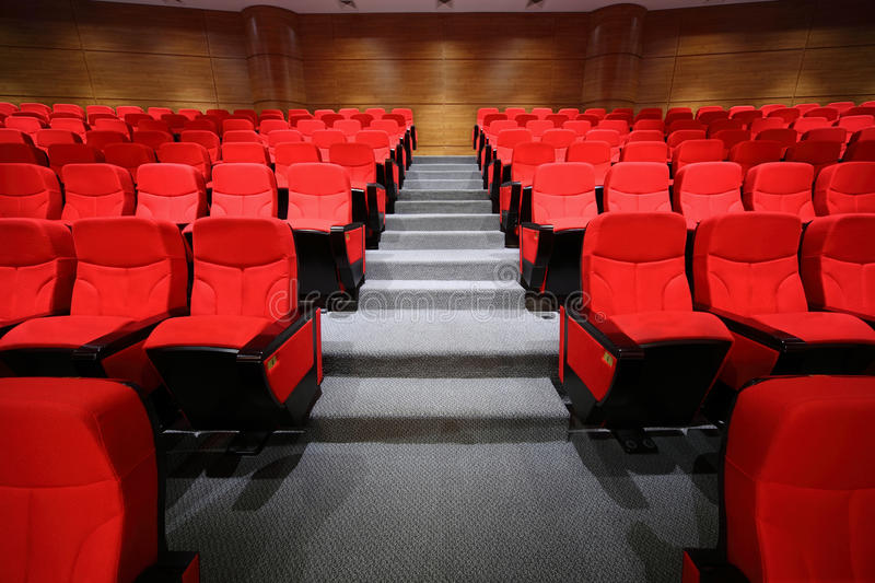 Download Arm-chairs And Gangway Are In Empty Hall Stock Image - Image: 20004545