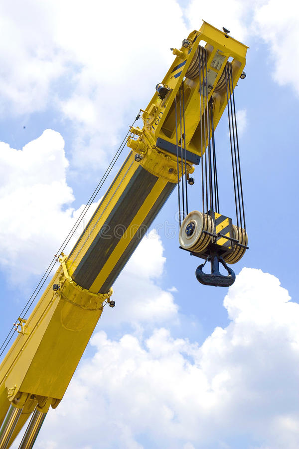 The arm of the crane