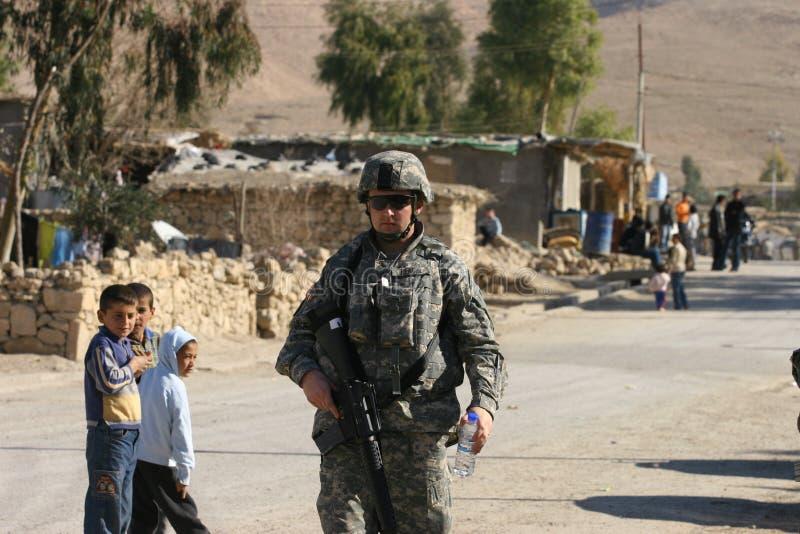 armén iraq tjäna som soldat USA royaltyfria bilder