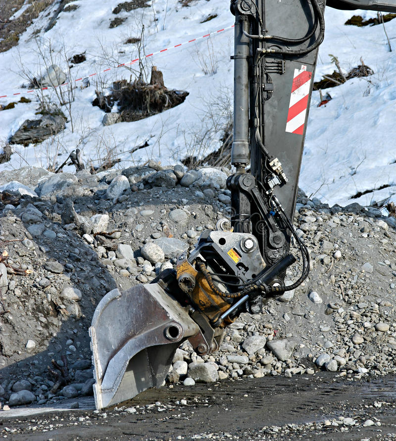 Excavator arm royalty free stock images