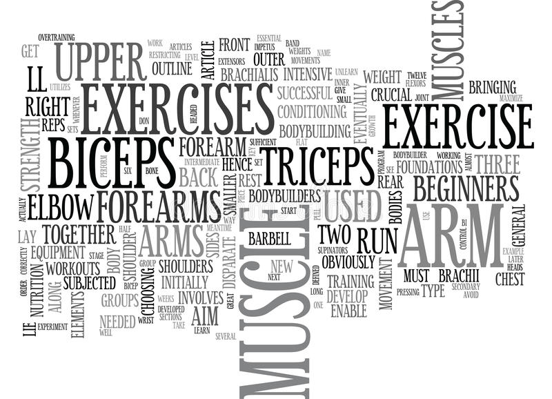 Arm Exercise For Great Arms Word Cloud royalty free illustration