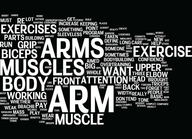 Arm Exercise Word Cloud Concept vector illustration