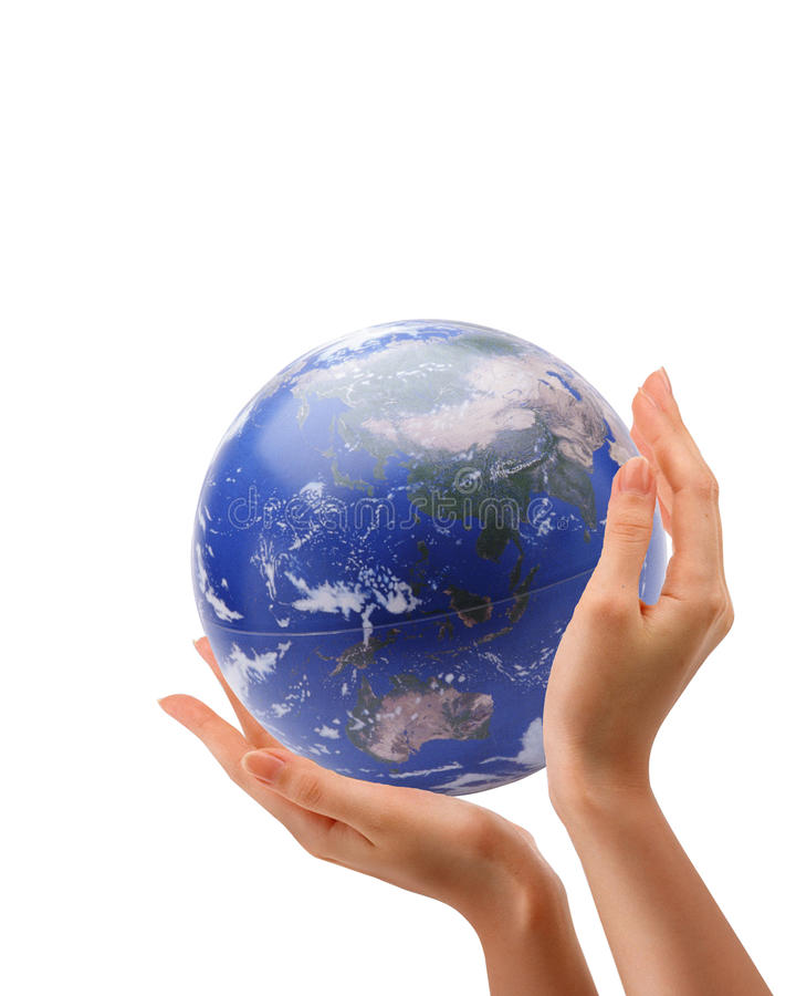 Arm Hold Earth Royalty Free Stock Image