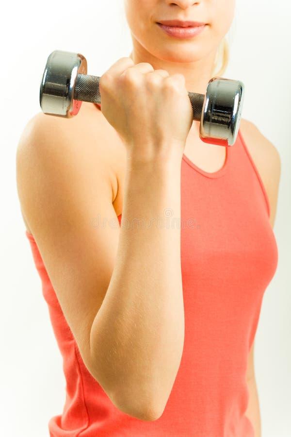 Arm mit Gewicht stockbilder