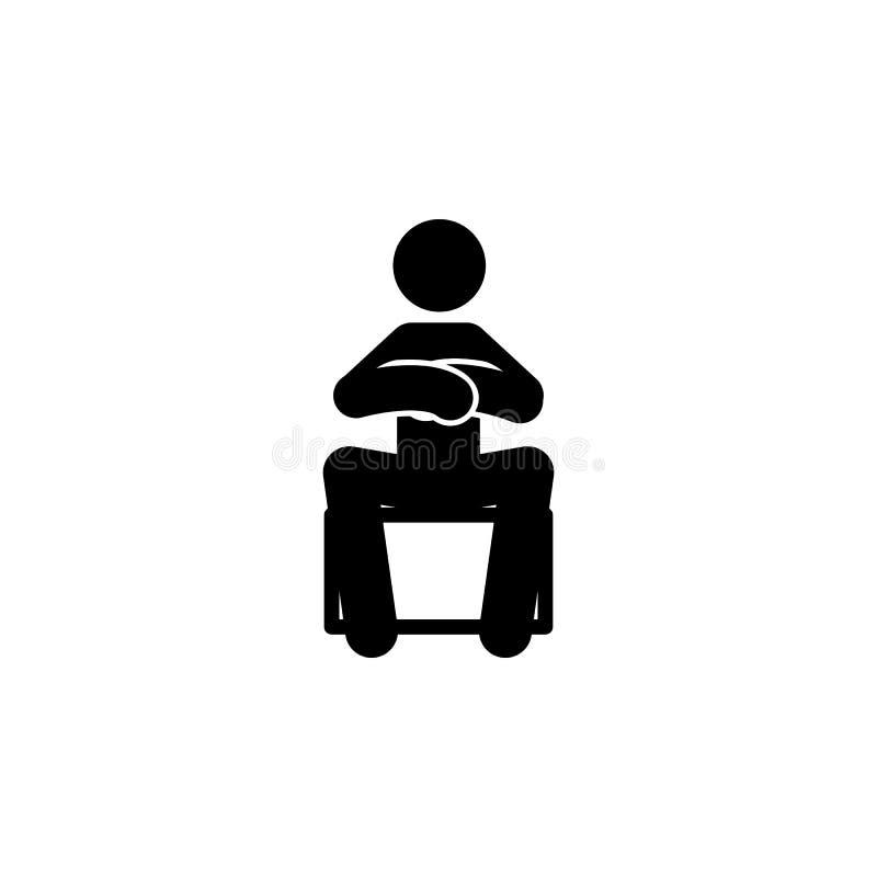 arm stol, mansymbol Beståndsdelen av mannen sitter symbolen för mobila begrepps- och rengöringsdukapps Den detaljerade armen, sto vektor illustrationer